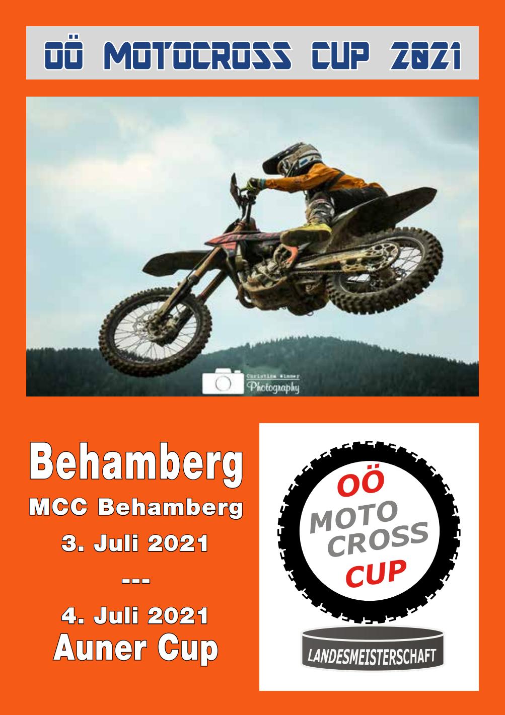 Programmheft von Behamberg 3. und 4. Juli 2021 inkl. Auner Cup